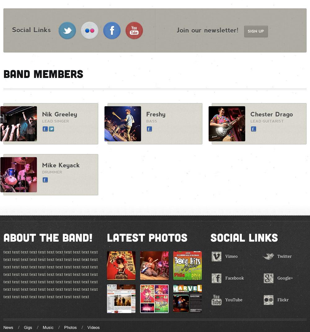music web designs