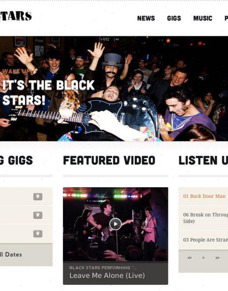 website designs for bands