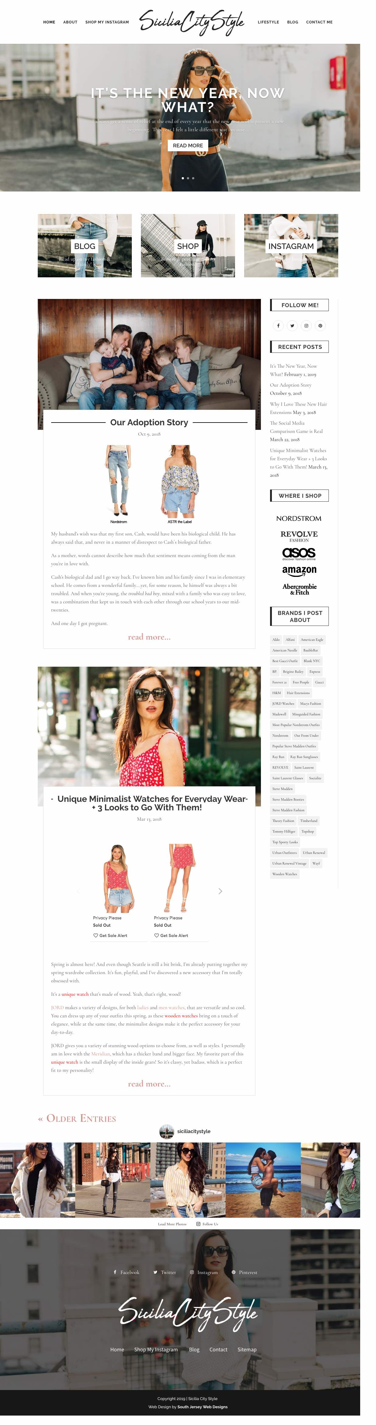 Fashion Homepage Design