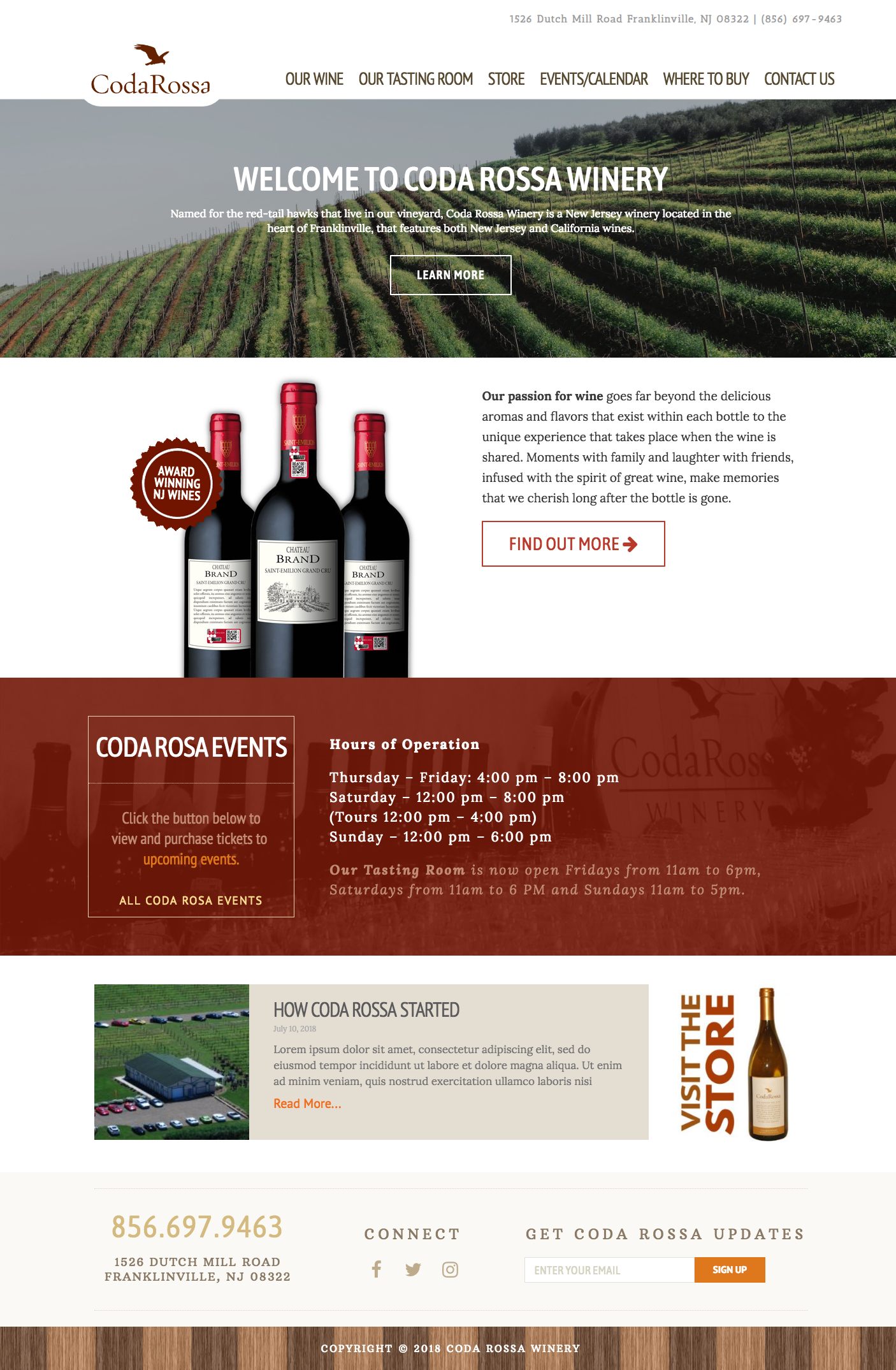 Winery Web Designs