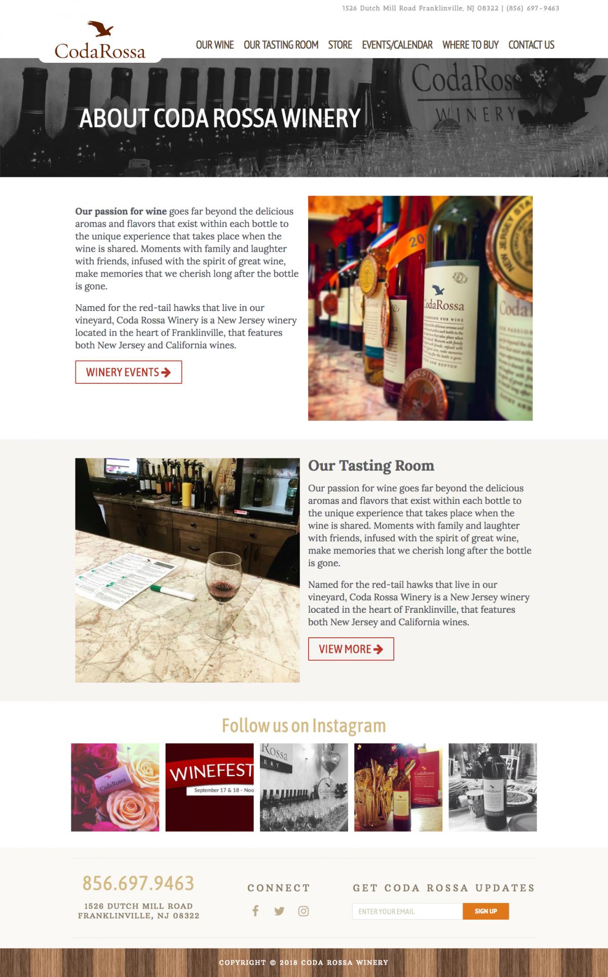 Winery Website Designs